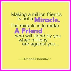 Making a million friends 