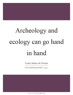 Archeology and 