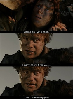 Come on, Mr. Frodo. 