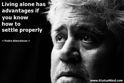 Living alone has 