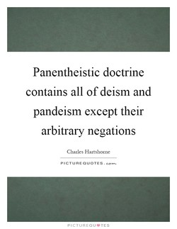 Panentheistic doctrine 