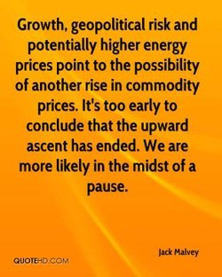 Growth, geopolitical risk and 