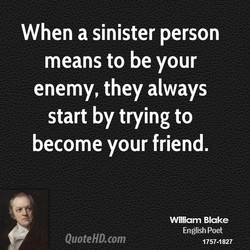When a sinister person 