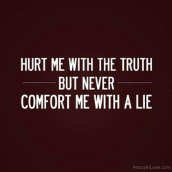 HURT ME WITH THE TRUTH 