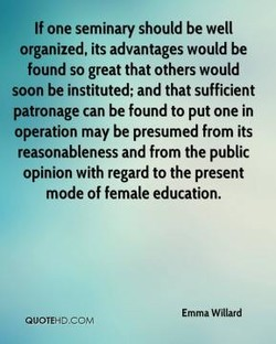 If one seminary should be well 