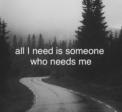 all I need is someone 