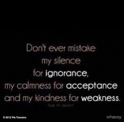Don't ever mistake 