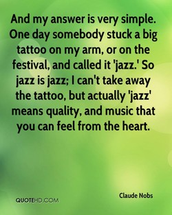 And my answer is very simple. 