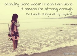 S+onding alone doesn+ mean I orn alone 