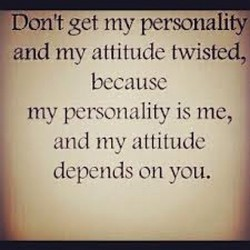 Don't get my personality 