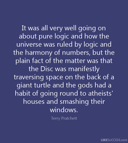 It was all very well going on 