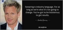 Swearing is industry language. For as 