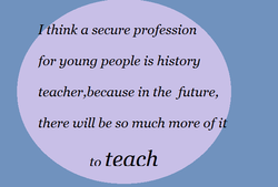 think a secure profession 