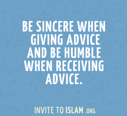 BE SINCERE WHEN 