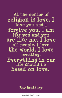 At the center of 