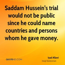 Saddam Hussein's trial 