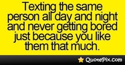 Texting the same 