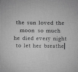 the sun loved the 