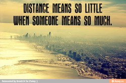 DISTANCE SO LITTLE 