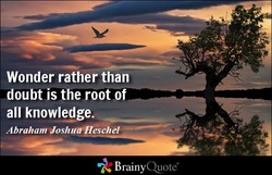 Wonder rather than 