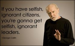 If you have selfish, 