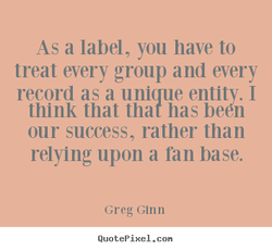 As a label, you have to 