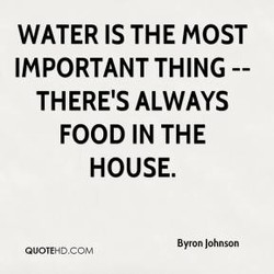 WATER IS THE MOST 