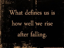 What defines us is 