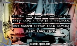 In the end our 11 realize ou 