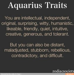 Aquarius Traits 