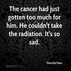 The cancer had just 