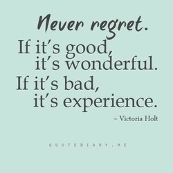 (ever regret. 