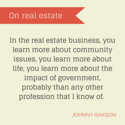 On real estate 