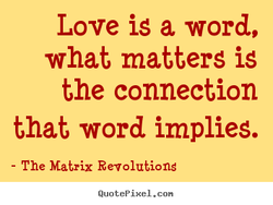 Love is a word, 