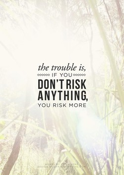the trouble is, 