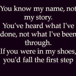You know my name, not 