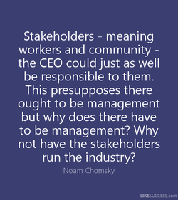 Stakeholders - meaning 
