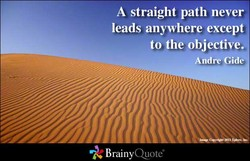 A straight path never 