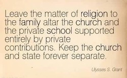 Leave the matter of rel@'on to 