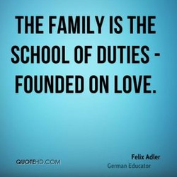 THE FAMILY IS THE 