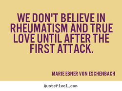 WE DON'T BELIEVE IN 