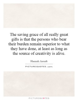 The saving grace of all really great 