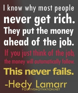 I know why most people 