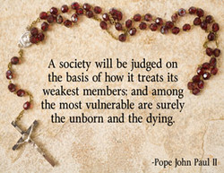 A society will be judged on 