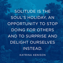 SOLITUDE IS THE 