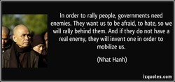 In order to rally people, governments need 