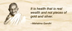 It is health that is real 