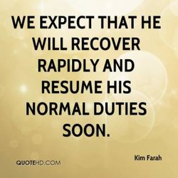 WE EXPECT THAT HE 