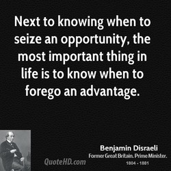 Next to knowing when to 