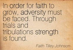 In order for faith to 